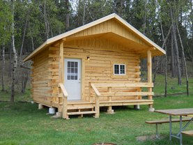 Deluxe Camping Cabin Exterior